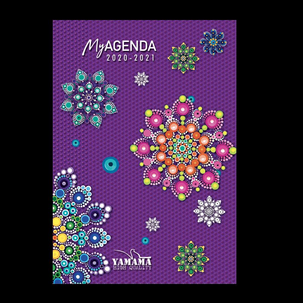 4-Agenda-Scolaire-12x17cm-cartonnée-refermable-avec-aimant
